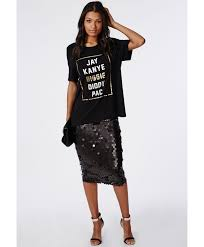 circle sequin midi skirt black skirts missguided party