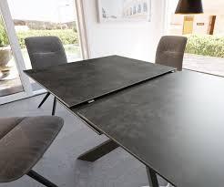 esszimmertisch daven grau keramik 160 200x90x76cm ausziehbar