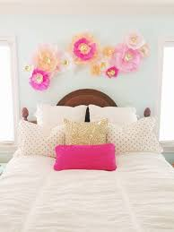 Items Similar To Set Of 12 Pink And Gold Handmade Tissue Paper Flower Wall Decor On Etsy