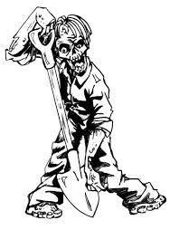 Unique Zombie Coloring Pages 81 In Picture Page With