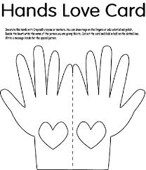 Hands Love Card Coloring Page