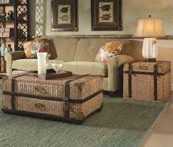 Threshold Heatherstone Wicker Patio Furniture by Rattan Trunk Coffee Table