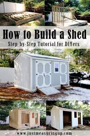 Rubbermaid Tool Shed Instructions by How To Build A Storage Shed From Scratch Step By Step Tutorial