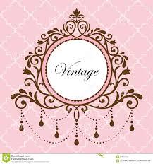 Chandelier Vintage Frame On Pink Background Stock Images
