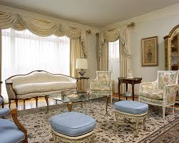 sumptuous curtain valances in living room traditional with french