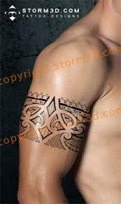 Polynesian Biceps Tattoo Maori Mix Black Tribal Images
