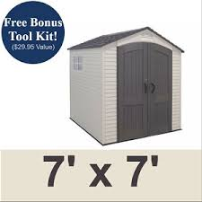 Rubbermaid 7x7 Storage Shed by Lifetime 60042 Lifetime 7 X 7 Shed On Sale With Fast U0026 Free Shipping
