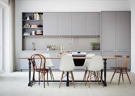 design light grey and white kitchen cabinet wine glass lighting