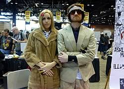 Fans Dress As Margot And Richie At The 2014 Chicago Comic Entertainment Expo