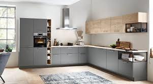 großzügige l küche feel nolte küchen mit front in softmatt quarzgrau