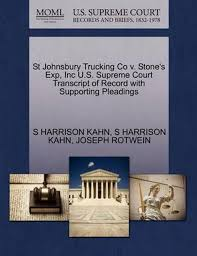 100 St Johnsbury Trucking Co V Ones Exp Inc US Supreme Court