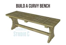 build a curvy bench u2013 designs by studio c