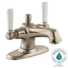 Kohler Devonshire Faucet Brushed Nickel by Kohler Devonshire 4 In Centerset 2 Handle Mid Arc Water Saving