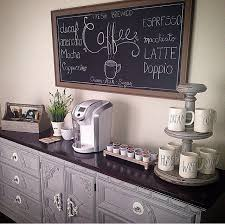 Coffee Bar Chalkboard Rae Dunn Mugs Station White Keurig