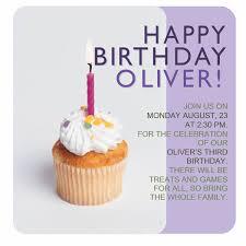 Birthday Invitation Flyer With Cupcake
