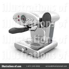Royalty Free RF Coffee Machine Clipart Illustration By KJ Pargeter
