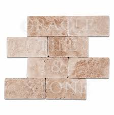 Oracle Tile And Stone by Andean Vanilla Travertine 3 X 6 Rectangular Field Tile Oracle