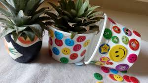 How To Use Waste Plastic Bottle Decorating With Smily Stickers