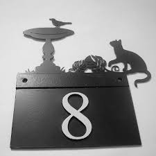 Cat And Bird House Number Plate By Black Fox Metalcraft ... Krazatchu Design Systems Home 2016 License Plates Cool Name For Desk Decor Office Door Decorative House Number Signs Plaques Iron Blog Dubious Choosing A Perfect House Home Street Number 46 A Name Plate Design On Brick Wall In Best Behavior Creative Clubbest Club Address Stone Home Numbers Slate Plaque Marker Sign Rectangle Double Paste White Text Effect Modern Address Tiles Ceramic Choice Image Tile Flooring Ideas The 25 Best Plates For Sale Ideas Pinterest Normal Awesome Plate Images Decorating