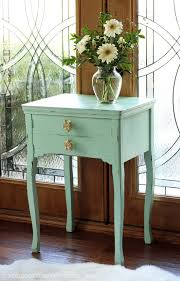 Americana Decor Chalky Finish Paint Colors by Cottage Inspired Sewing Machine Table Makeover Confessions Of A