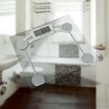 glas personenwaage glaswaage körperwaage badezimmer waage lcd display 150 kg detec handel de