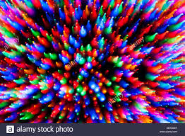 Christmas Tree Lights Motion Blur Zoom Abstract
