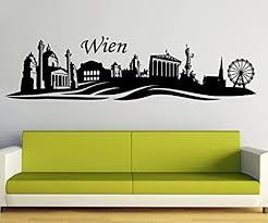 wandtattoo wien skyline österreich wand aufkleber wohnzimmer stadt 1m748 farbe königsblau matt skyline länge 200cm