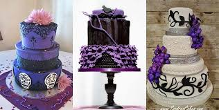 Creative Black And Purple Wedding Cakes