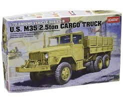 100 7 Ton Military Truck Academy 13410 M35 25TON 12 Scale Plastic Model Kit