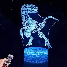 dinosaurier 3d nachtlicht für kinder 7 farben nachtlicht le touch usb lade tisch schreibtisch schlafzimmer dekoration coole geschenke ideen