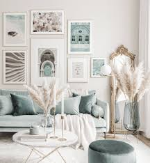 piękna galeria obrazów letnie plakaty niebieskie wnętrza