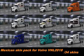 100 Mexican Truck VOLVO VNL 2018 TRUCK MEXICAN SKIN PACK 134X American