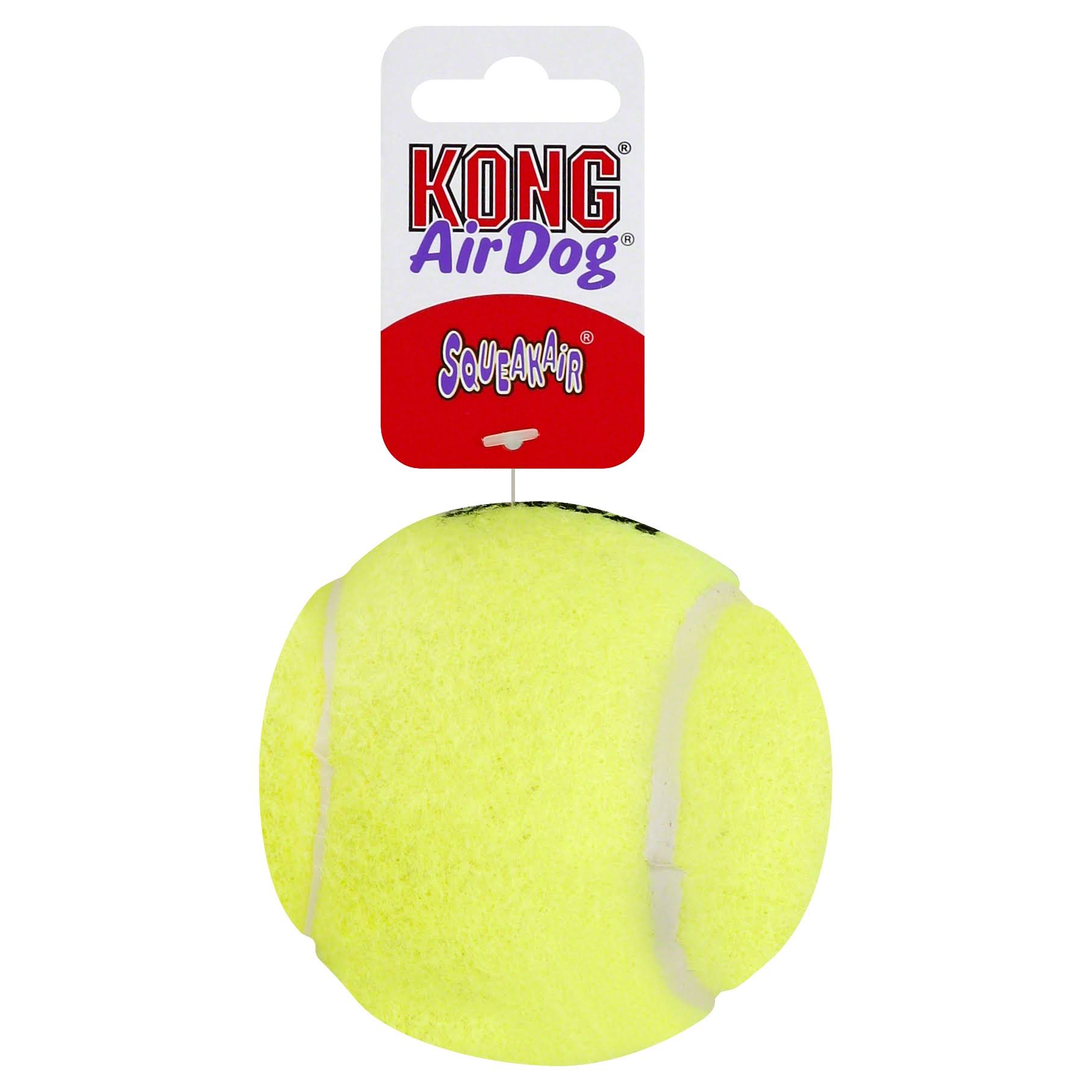 Kong Air Dog Squeakair Tennis Ball Dog Toy - Yellow, Large