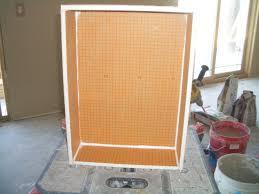 building a niche with kerdi board