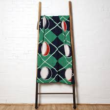 100 Eco Golf Argyle Throw Blanket Corporate Gifts In2green