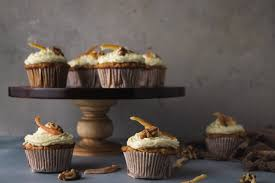 Carrot Cupcakes With Candied Orange Peel