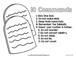 10 Commandments Printable Page A Simple Coloring Sheet For Children To Learn The Ten