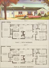 The Retro Home Plans by 1954 Ranch Style House Plans National Plan Service Plan 7211