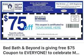 That $75 Off Bed Bath & Beyond Coupon You Keep Seeing Is A ...