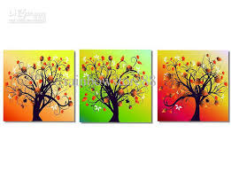 2018 3x Abstract Art Tree Silk Canvas Print Poster