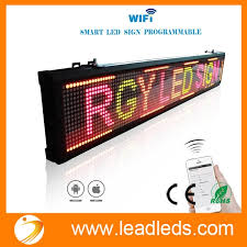 Leadleds 40x63 Inches Wifi Scrolling LED Sign Display Board For Business APP Programmable