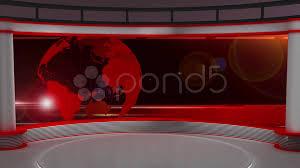 News TV Studio Set 29
