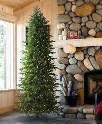 Skinny Artificial Christmas Trees Tree Classics Slim 9 Feet Clear Lights Uk