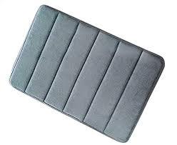 diossad badteppich grau microfaser gedächtnis schaum saugfähig wasser anti rutsch weich haushalt badezimmer teppich