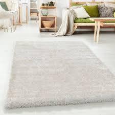 paket hochflor shaggy wohnzimmer teppich soft weichem glanz garn einfarbig natur