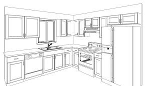 Unbelievable Simple Kitchen Drawing 4 on Kitchen Design Ideas with