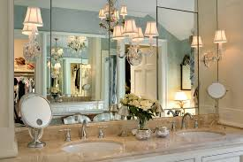 mirrored medicine cabinet in Bathroom Traditional with Covered
