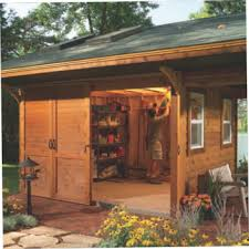 6x8 Wooden Storage Shed by Deluxe Rustic Yard Shed Plans Download