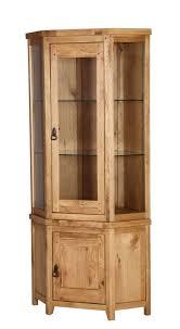 branches of bristol vienna rustic oak corner display cabinet