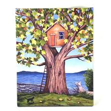 100 Tree House Studio Wood Giclee On Canvas House 4200